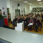 Mario Diez haciendo la presentación del proyecto a los asistentes.