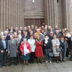 Grupo a la salida de Misa Iglesia de los Agustinos