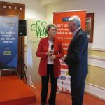 Fernando Francés, Presidente Mayores Solidarios, Coop. V.V. y Carmen Verdú, Diputada Prov. del Bienestar de las Personas (Valencia)
