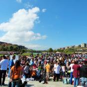 Muchas personas se acercaron para participar y/o colaborar con la causa