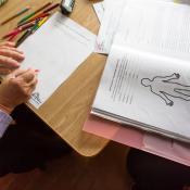 Actividades para personas mayores organizadas por el equipo psicosocial en Ucrania