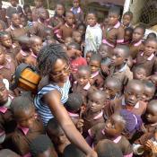 Convivencia con los niños de Melong II- Camerún, durante viaje de Mayo 2017