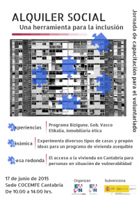 Cartel EAPN Cantabria alquiler social