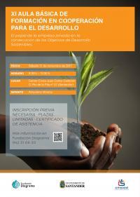 cartel XI Aula Básica de Formación en Cooperación al Desarrollo