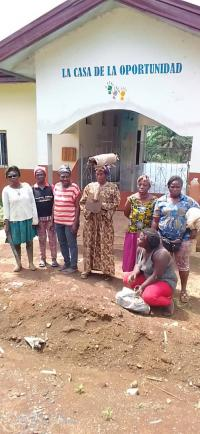 Las mujeres que cordinan el proyecto